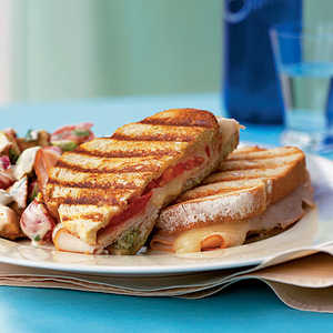 <p>Turkey and Cheese Panini</p>
