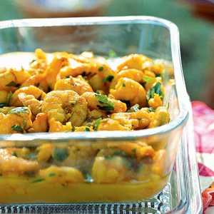Saffron Shrimp with Fennel SeedsRecipe