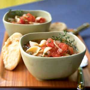 Tomato Garlic Soup with Parmesan CroutonsRecipe