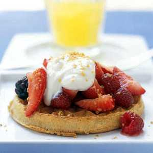 Honeyed Yogurt and Mixed Berries with Whole-Grain WafflesRecipe