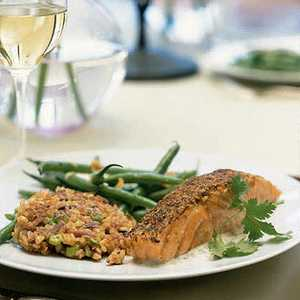 Spice-Crusted Salmon with Citrus SauceRecipe