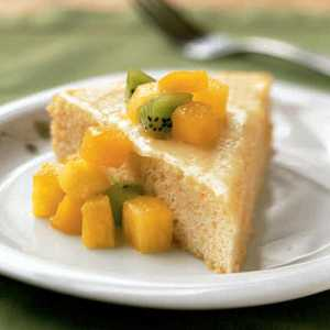 Rum-Soaked Sponge Cake with Tropical FruitRecipe