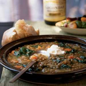 Lentil Soup with ChardRecipe