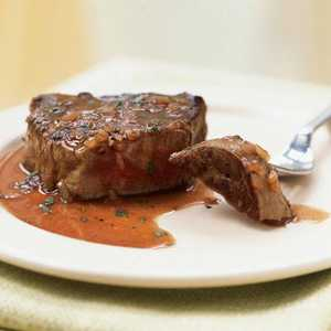 Beef Tenderloin Steaks with Red Wine-Tarragon SauceRecipe