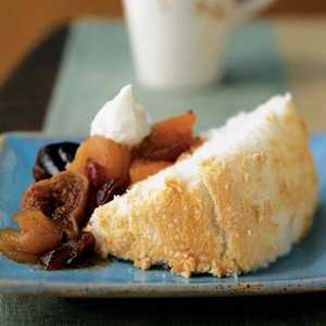 Angel Food Cake with Fall Fruit CompoteRecipe