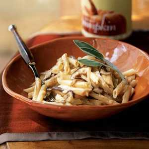 Pasta with Mushrooms and Pumpkin-Gorgonzola SauceRecipe