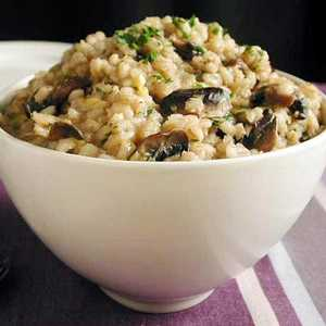 Barley Risotto with Caramelized Leeks and Mushrooms Recipe