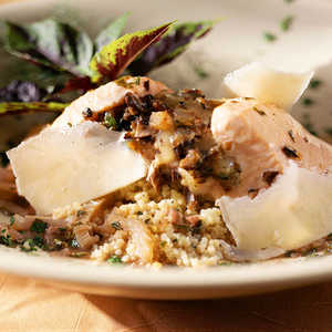 Fontina-Stuffed Baked Salmon with Herb JusRecipe