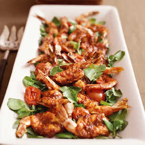 Broiled Shrimp with Spicy Chile Sauce Barra ViejaRecipe