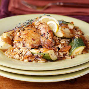 Chicken and Rice with Caramelized OnionsRecipe