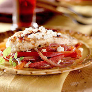 <p>Feta Chicken and Vegetables</p>