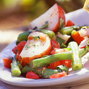 Herbed Potato Salad with Green Beans and TomatoesRecipe