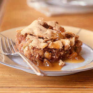Nutty Apple Spice Cake with Quick Butterscotch SauceRecipe