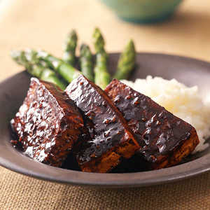 Marinated Tofu with Sticky Rice and AsparagusRecipe