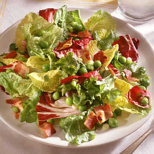 Wilted Greens with Warm Bacon Dressing Recipe