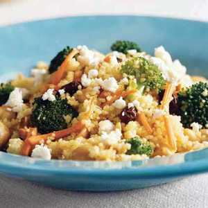 Curried Couscous with Broccoli and FetaRecipe