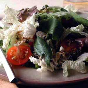 Cabbage and Mixed Greens Salad with Tangy Herb VinaigretteRecipe