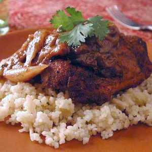 Moroccan Chicken with Almond CouscousRecipe