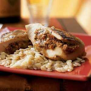 Chicken Breasts Stuffed with Goat Cheese and Sun-Dried TomatoesRecipe