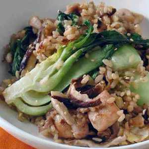 Chicken Fried Rice with Bok Choy Recipe