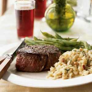 Peppercorn-Crusted Filet Mignon with Port Jus Recipe