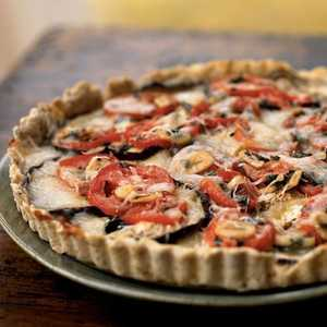 Eggplant, Tomato, and Smoked Mozzarella TartRecipe