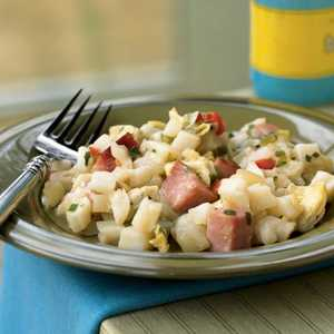 <p>Ham and Cheese Hash Browns</p>