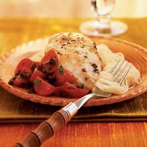 Chicken with Cherry Tomato and Olive ToppingRecipe