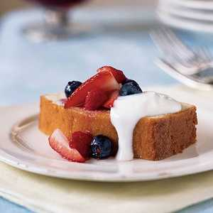 Lemon Pound Cake with Mixed BerriesRecipe