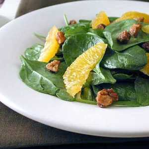 Baby Spinach Salad with Candied HazelnutsRecipe