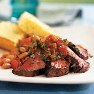 <p>Southwestern Steak and Pinto Beans</p>