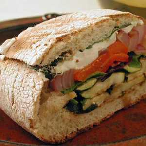 Grilled Vegetable and Mozzarella Sandwiches Recipe