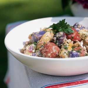 Red, White, and Blue Potato SaladRecipe