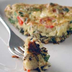 Wild Rice, Asparagus, and Goat Cheese Frittata Recipe