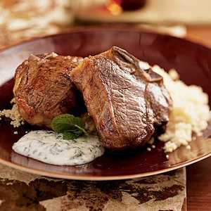 Lamb Chops with Herbed Yogurt over CouscousRecipe