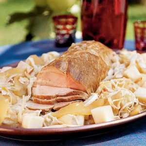 Roast Pork with Apples, Cabbage, and TurnipsRecipe