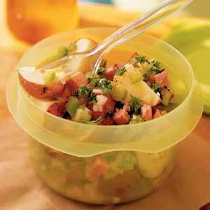 German-Style Potato Salad with Ham Recipe