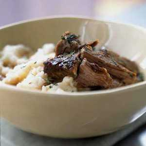 Slow-Roasted Beef with Creamy Mashed PotatoesRecipe