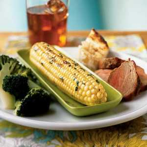 Grilled Corn with Mint Butter Recipe