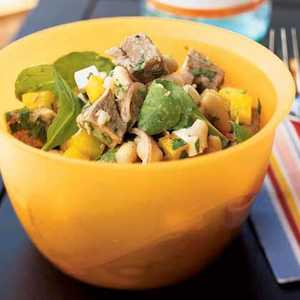 Roast Lamb and White Bean SaladRecipe