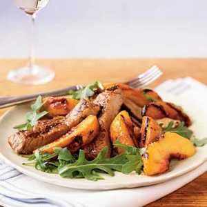 <p>Grilled Peaches and Pork</p>