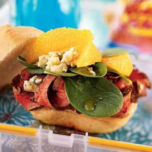 Beef, Orange, and Gorgonzola Sandwiches Recipe