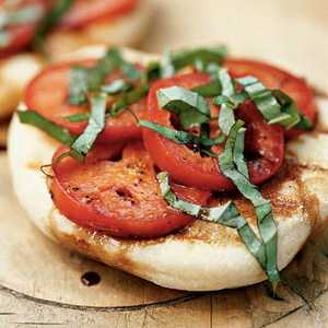 Grilled Flatbreads with Tomatoes and BasilRecipe