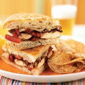 <p>Balsamic-Glazed Chicken and Bell Pepper Sandwiches</p>