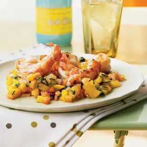 Shrimp Cocktail with Tropical Fruit SalsaRecipe