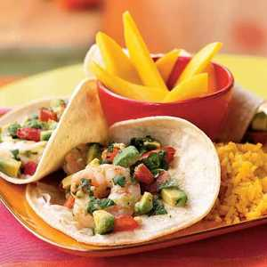 Seviche-Style Shrimp and Avocado TacosRecipe