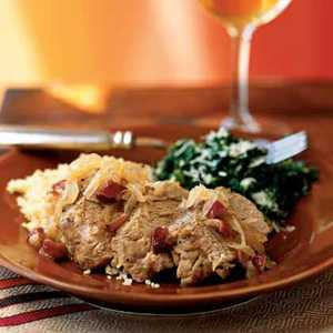 Pork Tenderloin with Onions and Dried Cranberries Recipe