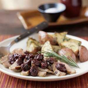 Duck with Dried Cherries and RosemaryRecipe