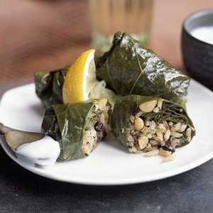 Grape Leaves Stuffed with Rice, Currants, and HerbsRecipe