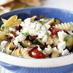 Pasta and Grilled Vegetables with Goat CheeseRecipe
